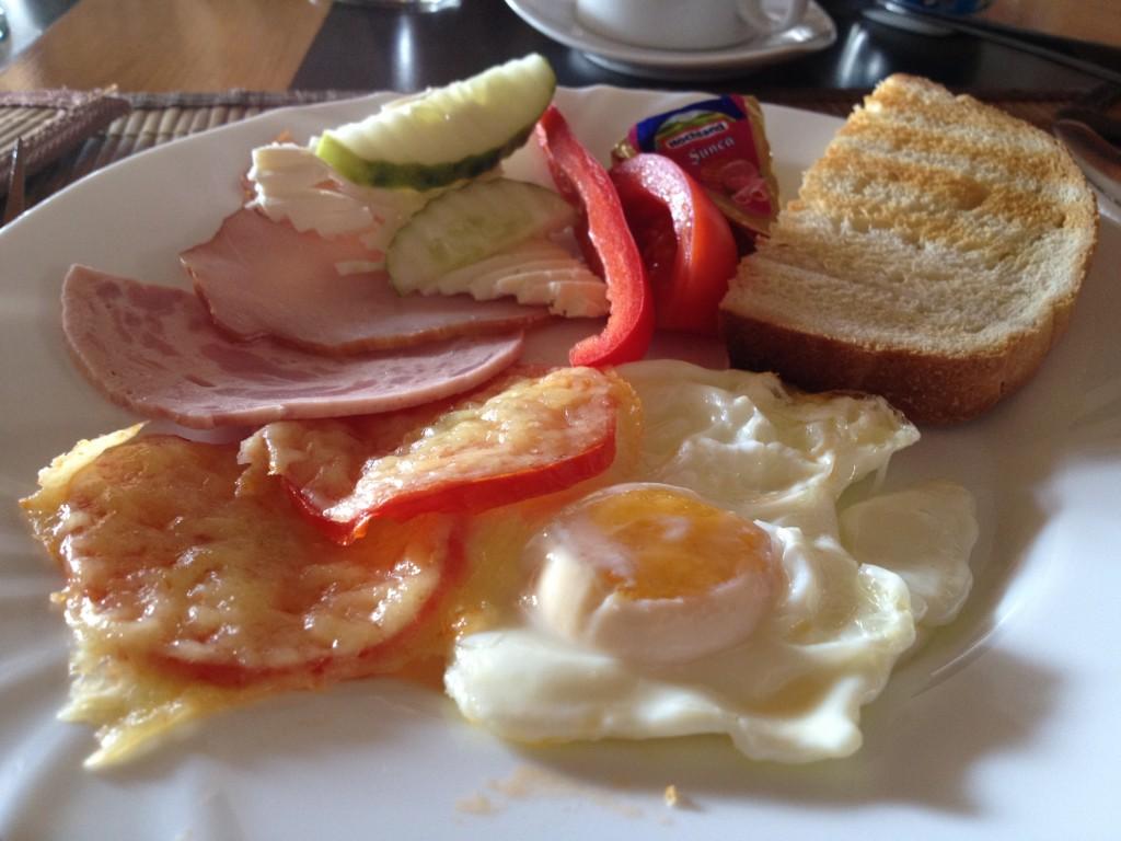 Breakfast at Padina Ursului in Romania